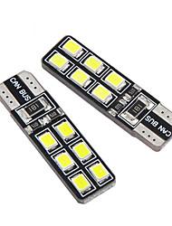 cheap -2pc T10 LED W5W Canbus Lights 194 12smd 2835 LED Bulbs Car Error Free LED Lights Parking Car side light Clearance Lamp 12V