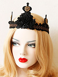 cheap -Women's Headbands For Halloween Theme Party Flower Series Classic Fabric Alloy Black 1