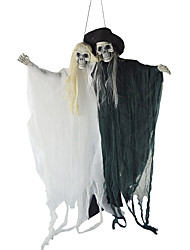 cheap -Death Grell Sutcliff Cosplay Costume Masquerade Adults' Couple's Cosplay Halloween Halloween Festival / Holiday Polyster Black Couple's Carnival Costumes