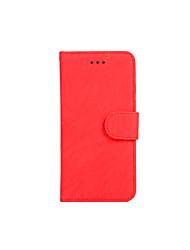 cheap -Case For Apple iPhone 8 / iPhone 7 / iPhone 6s Card Holder / Magnetic / Auto Sleep / Wake Up Full Body Cases Solid Colored PU Leather / TPU