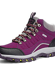 cheap -Women's Athletic Shoes Flat Heel Round Toe Suede Booties / Ankle Boots Sporty / Casual Hiking Shoes / Walking Shoes Spring / Fall Purple / Fuchsia