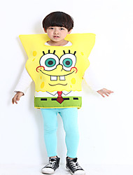 cheap -Ghost Halloween Props Kid's Boys' Halloween Halloween Festival / Holiday polyester fibre Yellow Carnival Costumes