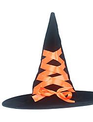Недорогие -ведьма Шапки Товары для Хэллоуина Маскарад Жен. Шапки Хэллоуин Хэллоуин Карнавал Маскарад Фестиваль / праздник Плюш Лиловый / Оранжевый / Розовый Жен. Карнавальные костюмы
