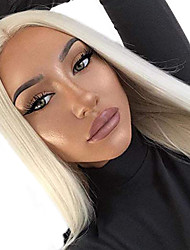 cheap -Synthetic Lace Front Wig Straight Free Part Wig Blonde Long Blonde Synthetic Hair 18-26 inch Women's Soft Elastic Women Blonde / Glueless