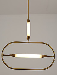 cheap -1-Light 51 cm Pendant Light Metal Circle Electroplated Artistic / Nordic Style 110-120V / 220-240V