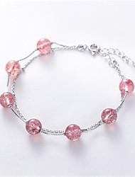 abordables -Bracelet Femme Classique Etoile Mode Bracelet Bijoux Argent pour Quotidien