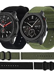 cheap -Nylon Canvas Watch Band Wrist Strap for Xiaomi Huami Amazfit GTR 47mm / Amazfit Stratos 2/2S / Amazfit Pace Smart Watch Bracelet Wristband Replaceable Accessories