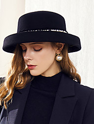 cheap -100% Wool Hats with Pearls 1pc Casual / Daily Wear Headpiece