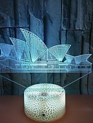 abordables -opéra house touche colorée lumières de nuit 3d conduit lumières stéréoscopiques lampes de table de construction