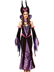 cheap -Witch Cosplay Costume Outfits Halloween Props Party Costume Costume Adults Adults' Women's Halloween Halloween Festival / Holiday Plush Fabric Satin Black Women's Carnival Costumes / Dress / Sleeves