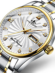 cheap -Steel Band Watches Quartz Stainless Steel Silver Casual Watch Large Dial Analog Minimalist - Gold / White black / gold