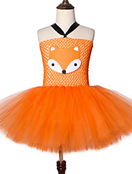 cheap -Cute Fox Tutu Dress Outfit Toddler Crazy Animal Nick Carnival Cosplay Costume for Kids