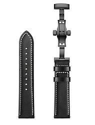 Недорогие -ремешок для часов для samsung galaxy gear sport черная бабочка с пряжкой 20мм ремешок из натуральной кожи