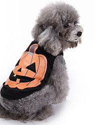 cheap -Dogs Vest Winter Dog Clothes Black Halloween Costume Polyster Pumpkin Holiday XS S M L XL