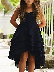 cheap -Baby Girls' Basic Solid Colored Sleeveless Dress Black