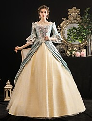 cheap -Maria Antonietta Rococo Baroque Victorian Dress Party Costume Masquerade Women's Lace Costume LightBlue Vintage Cosplay Party Halloween Party & Evening Floor Length Ball Gown Plus Size