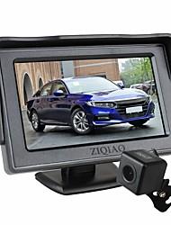 Недорогие -Ziqiao 4,3-дюймовый складной автомобильный монитор TFT ЖК-дисплей камеры парковочная камера заднего вида для автомобильного комплекта мониторов заднего вида