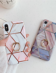 cheap -Case For Apple iPhone 11 / iPhone 11 Pro / iPhone 11 Pro Max Ring Holder / Pattern Back Cover Geometric Pattern / Marble TPU