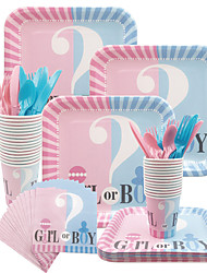 cheap -Party / Birthday Party Accessories Ornaments Splicing Plastic / Pure Paper Classic Theme / Creative / Birthday