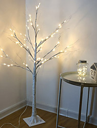 cheap -LED Silver Birch Tree Lamp Christmas Festival Modern Decoration Indoor Warm White Holiday Fairy Light Garland