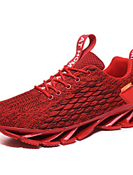 cheap -Men's Novelty Shoes Knit / Tissage Volant Spring & Summer / Fall & Winter British / Preppy Athletic Shoes Running Shoes / Walking Shoes Breathable Black / White / Red