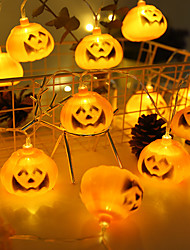 cheap -1.5m Halloween Pumpkin LED String Lights Garden Home Party Decoration Holiday String Light Lights