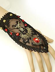 cheap -Women's Red Vintage Bracelet Ring Bracelet / Slave bracelet Earrings / Bracelet Vintage Style Skull Statement Vintage Trendy Gothic Fashion Resin Bracelet Jewelry Black For Halloween Club
