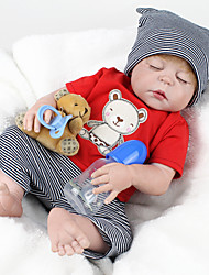cheap -NPK DOLL 22 inch Reborn Doll Reborn Toddler Doll Baby Boy Baby Girl Safety Gift Cute Full Body Silicone with Clothes and Accessories for Girls' Birthday and Festival Gifts / Kids