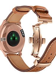 cheap -Watch Band For Garmin Vivomove HR Rose Gold Butterfly Buckle Fashion Genuine Leather Strap Bracelet Belt