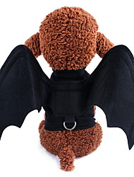 cheap -Dogs Outfits Bat Wings Spider Winter Dog Clothes Black Black Halloween Costume Polyster Solid Colored Holiday S M L