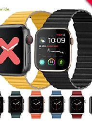 cheap -Watch Band for Apple Watch Series 5/4/3/2/1 Apple Sport Band Genuine Leather Wrist Strap Enhanced Adjustable Leather Strap with Magnetic Closure Compatible with Apple Watch Band 44mm 42mm 40mm 38mm