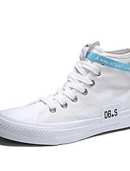 cheap -Men's Fashion Boots Canvas Fall & Winter Sporty / Casual Sneakers Walking Shoes Breathable Black / White / Khaki