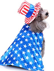 cheap -Dogs Outfits Winter Dog Clothes Blue Christmas Halloween Costume Polyster National Flag Holiday American Style Funny S M L XL