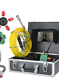 cheap -7inch 22mm Pipe Inspection Video Camera 30M IP68 Waterproof Drain Pipe Sewer Inspection Camera System  1000 TVL Camera with 6W LED Lights