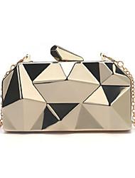 cheap -Women's Alloy Evening Bag Geometric Pattern Black / Gold / Silver