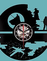 cheap -Creative Clock CD Vinyl Record Wall Clock Star Wars Theme Home Decor 3D Hanging Watches Decoration