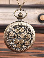 Недорогие -Муж. Карманные часы Кварцевый Старинный Бронза С гравировкой Творчество Новый дизайн Аналого-цифровые Винтаж - Бронзовый