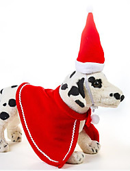 cheap -Rodents Dogs Cats Hats, Caps & Bandanas Winter Dog Clothes Red Christmas Costume Shih Tzu Poodle Chihuahua Fabric Solid Colored Christmas Halloween