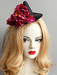 cheap -Women's Dainty Statement Vintage Fabric Alloy Hat Hair Clip Halloween Club