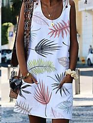 cheap -Women's Basic A Line Dress - Geometric White Purple Blushing Pink S M L XL