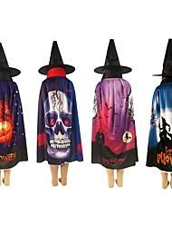 cheap -Halloween Children Cosplay Cloak Gift Cloak AB Wear Long Tippet Adult Hood Cloak Costume Death Hoody Cloak Devil Theater Prop