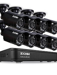 cheap -ZOSI HD 8 Channel CCTV System 8CH 1080N DVR 8PCS 1MP 720P Outdoor Video Night Vision System Surveillance DVR Kit No HDD Motion Detection Email Alert Record Via Phone