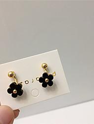 cheap -Women's Earrings Classic Flower Joy S925 Sterling Silver Earrings Jewelry Black / White For Gift Daily Festival 1 Pair