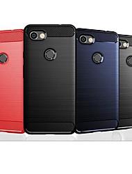 abordables -Coque Pour Google Pixel 2 / Pixel 2 XL / Google Pixel 3 Antichoc / Ultrafine Coque Couleur Pleine / Lignes / Vagues TPU / Fibre de carbone