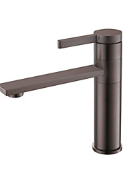 cheap -Bathroom Sink Faucet - Widespread Chrome / Oil-rubbed Bronze / Brushed Centerset Single Handle One HoleBath Taps