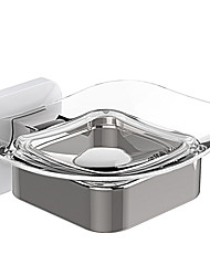 cheap -Soap Dish Bathroom Toilet Soap Box Home Transparent Punch-Free Bathroom Accessories Hardware Creative Handmade Soap Dish