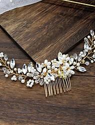 cheap -Alloy Hair Accessory with Pearls / Crystal / Rhinestone / Flower 1 Piece Wedding Headpiece