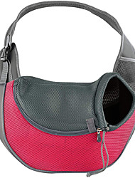 cheap -Cat Dog Carrier & Travel Backpack Front Backpack Fabric Pet Baskets Solid Colored Portable Breathable Green Blue Pink