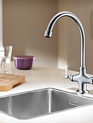 cheap -Kitchen faucet - Two Handles One Hole Multi-Ply Standard Spout / Tall / ­High Arc Other Contemporary Kitchen Taps