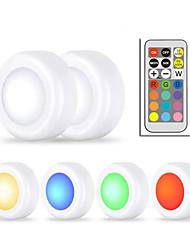Недорогие -6x беспроводная светодиодная шайба ночные светильники RGB 12цветный сенсорный датчик с регулируемой яркостью светодиода под светом шкафа для тесного освещения лестничного холла в гардеробе (6 ламп и 1